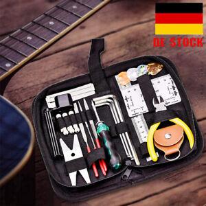 Gitarren Reparaturset 26 Stück Gitarren Bassgitarren Wartungs Pflege Werkzeuge