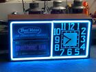 Vintage 1950s ACTION AD Electric NEON Rotating SIGN Advertising OLD CLOCK Works!