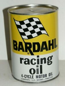 VINTAGE MOTOR OIL CAN AUTHENTIC BARDAHL racing oil Full METAL QT.