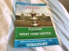 Fulham v West Ham United 1975 FA Cup Final