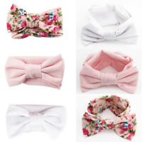 3pcs/Set Baby Girl Headband Ribbon Elastic Headdress Kids Hair Band Newborn Bow