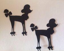 Handmade Cricut Die Cuts Set Of Black POODLE For Scrapbooking, Paper Piecing