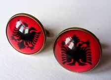 ALBANIA CUFFLINKS - NEW IN BLACK GIFT POUCH