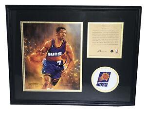Kevin Johnson 1995 Phoenix Suns NBA Framed & Matted Lithograph Art Print