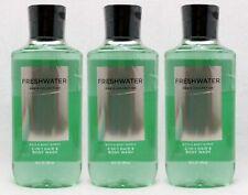 Bath & Body Works Freshwater For Men 2 in 1 Hair Face Body Wash Set of 3 Bottles