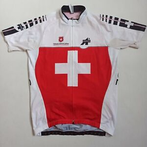 Assos Jersey , Mens, White-Red, Ecxellent Condition, Size - XLG