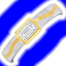 Echte Diamanten-Ringe aus Platin mit Baguette