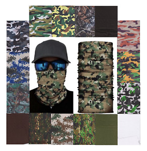 USA Stock Camo Tac Face Mask Head Wrap Neck Gaiter Balaclava Buff 21 varieties
