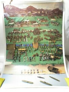 Dimestore soldier poster by Bob Hornung, the rarest Manoil, Barclay, All-Nu...