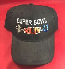 8bf681268 Super Bowl XLIV New Orleans Saints Vs Colts Adjustable Black Hat