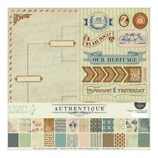 Authentique Legacy Collection Scrapbook Kit 300+ pcs Paper Stickers Heirloom