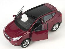 Blitz envío hyundai tucson ix burdeos met. Welly modelo auto 1:34 nuevo & OVP