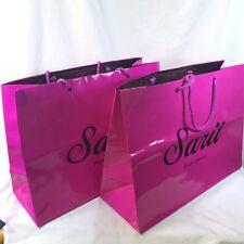 2 Sarit's Palm Desert Signature Fuchsia Pink Paper Shopping Gift Bag Medium