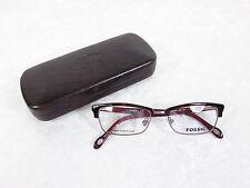 Fossil Marlena Eyeglass Frames MARLENA FM8 Dark Tortoise Sangria Rx-able