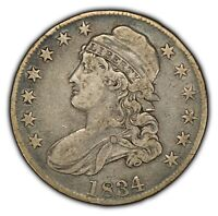 1834 50c Capped Bust Silver Half Dollar - Solid VF/XF Original Coin - SKU-H097