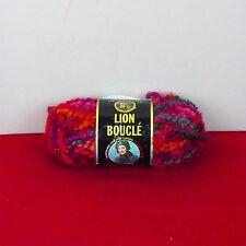 Lion Boucle' One SkeinYarn Popsicle #212 Mohair Acrylic Nylon 2.5 Oz