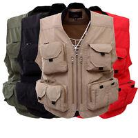 MULTI-POCKETS safari waistcoat hunting fishing Photographer Professional vest