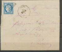 1876 Lettre N°60 obl ambulant + Convoyeur Station FONS BES.N. GARD(30) P2711