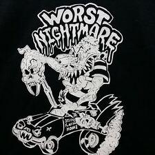 MONSTER ART T SHIRT WORST NIGHTMARE HEARSE HOT ROD RAT FINK WEIRDO XL 2X SCHERES