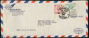 Mayfairstamps PHILIPPINE ISLANDS AD 1959 COVER MANILA PAL VISCOUNT wwm42363