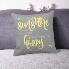 18''X18'' You Are My Sunshine Cotton Throw Pillow Case Cushion Cover Home Decor