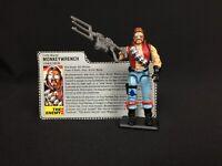1986 Hasbro GI JOE ARAH Monkeywrench (V1) Action Figure Complete W/ File Card