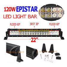 22Inch 120W Led Flood Spot Work Driving Light Bar Offroad 4WD Truck Bar Boat ATV