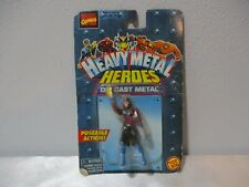 "1997 TOY BIZ MARVEL COMIVS HEAVY METAL HEROES DIE CAST METAL 2 7/8"" TALL OVERALL"