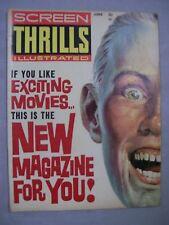 SCREEN THRILLS ILLUSTRATED MAGAZINE JUNE 1962 EXCITING MOVIES NEW MAGAZINE