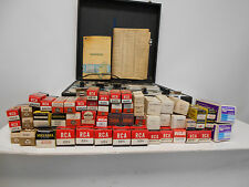 USED UNTESTED DYNA - JET MODEL 707 TUBE TESTER 117 VOLTS WITH 52 VARIOUS TUBES