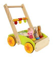 Lauflernwagen Tierparade aus Holz Tiere Spielwagen Laufwagen für Kinder Babys