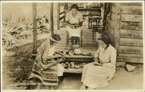 Cherokee Native Indian Making Pottery Cline? Real Photo Postcard