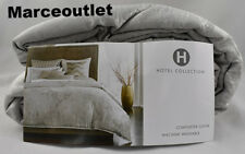 Hotel Collection Interlattice KING Duvet Cover & STANDARD Shams Set Silver