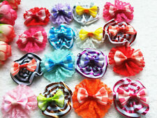 40PCS Pet Dog Hair Bow with  button rubber band puppy Hair Accessories Grooming