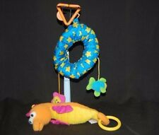 "Lamaze Seahorse Inner-tube 9"" Yellow Orange Pink Blue Baby Crib  Stuffed Toy"