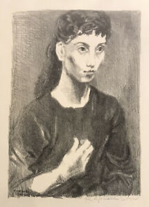 Raphael Soyer Young Girl Signed Lithograph AAA Edition