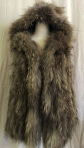 Knitted Raccoon Hooded Vest