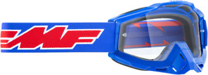 FMF PowerBomb Sand Rocket Goggles - Blue w/ Clear Lens
