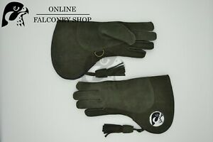 OFS Green Nubuck Double Layer, Fur Lined Glove Size Medium