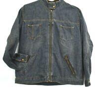 Chicos Design Women's Size 2 Long Sleeve Full Zip Up Denim Jean Jacket