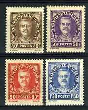 1933 MONACO  N°115/118 TIMBRES POSTE 10e REG LOUIS II xx