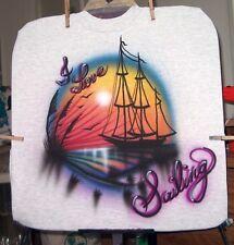Airbrushed T-shirt CLIPPER SHIP S M L XL 2X 3X 4X 5X