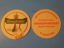 Beer Coaster ~*:*~ Koblenz, GERMANY ~*~ Konigsbacher Brewery Abendsportfest 1986