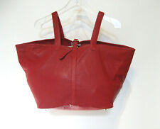 MELI MELO Red Perforated Butter Soft Leather Hobo Tote Handbag