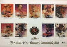 1991 WINSTON MOTORSPORTS OFFICIAL 20TH ANNIVERSARY COMMEMORATIVE CHAMPIONS PRINT