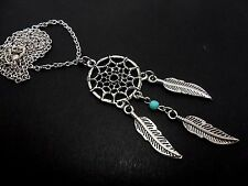 """A LOVELY TIBETAN SILVER  DREAMCATCHER NECKLACE ON  18"""" CHAIN. NEW."""