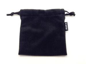 NEW Genuine Sony  Earphones Earpiece Carrying Storage Pouch Black