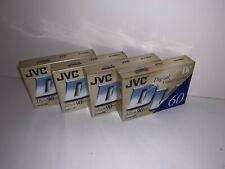 JVC DV60 Lot Of 4 90mins Digital Video Cassette DVC