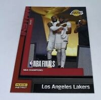 2019 20 LA LAKERS PANINI INSTANT NBA CHAMPIONS #27 LEBRON JAMES ANTHONY DAVIS