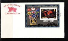 Jersey  enveloppe  bloc feuillet  liens avc le Commonwealth  1984